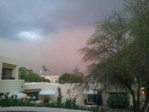 My first experience with a dust storm!  The thundering wind was quite an experience.