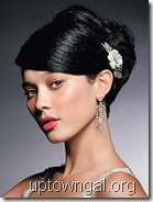retro updo wedding hairstyle